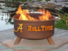 Patina Alabama Roll Tide Fire Pit