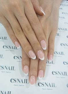 Gel French Manicure, French Manicure Designs, French Tip Nails, Nail Manicure, French Toes, Nails Design, Almond Nails French, Manicure Ideas, Natural French Manicure