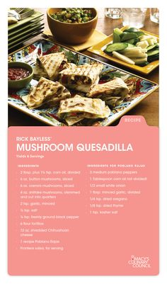 Need a tasty new recipe? Check out Macy's Culinary Council Chef Rick Bayless' Mushroom Quesadilla