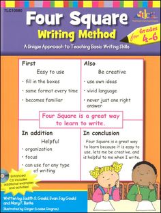 Four Square: Writing Method Grades W/Enhanced CD : A Unique Approach to Teaching Basic Writing Skills, Multicolor Expository Writing, Paragraph Writing, Writing Process, Teaching Writing, Writing Skills, Writing Journals, Writing Activities, Writing Ideas, Teaching Ideas