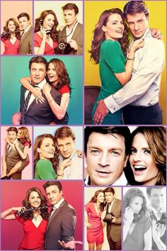 Stana Katic and Nathan Fillion-- I love these two...and Castle!