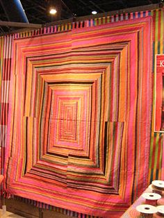 Kaffe Fassett quilt from 'Quilts in Sweden'. Spotted at the Westminster / Rowan booth, November 2011.