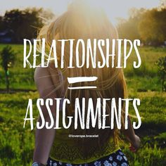 Relationships are assignments.  They are part of a vast plan for our enlightenment the Holy Spirits blueprint by which each individual soul is led to greater awareness and expanded love.  Relationships are the Holy Spirits laboratories in which He brings together people who have the maximal opportunity for mutual growth.  He appraises who can learn most from whom at any given time and then assigns them to each other.  #spiritualquotes #spiritualawakening #karma #lawofattraction #powerofnow…