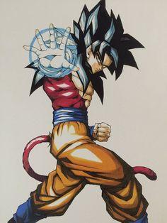 Amazing fanart of Goku ssj 4 Dragon Ball Gt, Dragon Z, Super Saiyan 4 Goku, Goku E Vegeta, Foto Do Goku, Dbz Drawings, Manga Anime, Anime Art, Graffiti