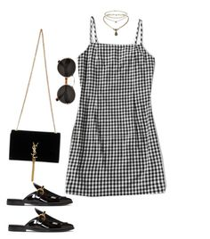 """Untitled #5165"" by lilaclynn ❤ liked on Polyvore featuring STELLA McCARTNEY, Yves Saint Laurent, Prada and Topshop"