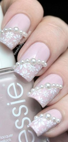 Pink Pearls with white flowers
