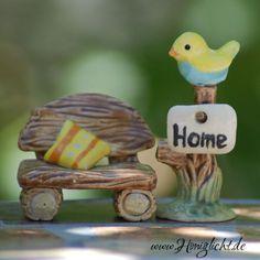 Honiglicht-Keramik Miniaturgarten