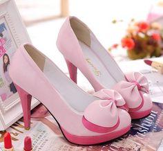 Bow Heels Pink
