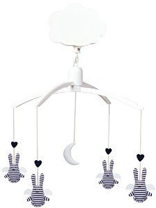 Trousselier Musical Mobile Angel Bunny (Navy Stripe): Amazon.co.uk: Baby