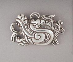 Quetzalcóatl Head Brooch William Spratling.(Prendedor cabeza de Quetzalcóatl) | LACMA Collections