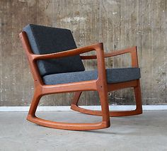 60er OLE WANSCHER Teak SCHAUKELSTUHL France & Son 60s ROCKING CHAIR danish