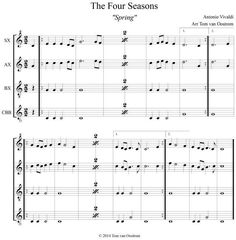 Orff Arrangements! Lots of folk songs, holiday songs, canons, speech, and of course, the 4 seasons.