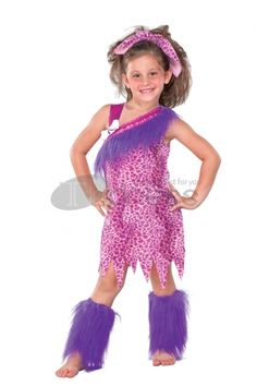 Halloween Costumes original cave girl suit, make your young girl be much cute.