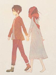 Erin and Mikasa AOT