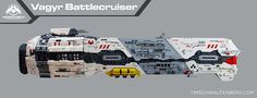 """""""Vaygr Battlecruiser Side Profile"""" by One More Brick: Pimped from Flickr"""