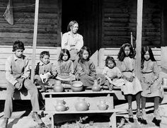 Catawba mother and children at Rock Hill, South Carolina - 1910