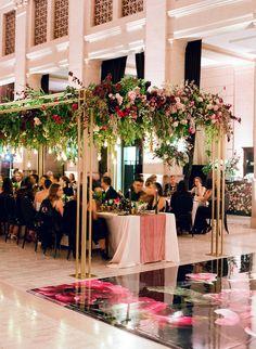 A Dark & Moody Wedding Like You've Never Seen Wedding Show, Mod Wedding, Wedding Reception, Wedding Venues, Reception Ideas, Wedding Arches, Gothic Wedding, Trendy Wedding, Wedding Bride