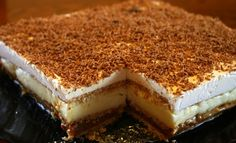 Prajitura 3 creme: 3 arome intr-un desert delicios, fara coacere Easy No Bake Desserts, Polish Recipes, Piece Of Cakes, No Bake Cake, Cheesecake, Food And Drink, Cooking Recipes, Yummy Food, Sweets