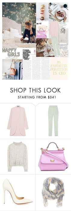 """""""Nothing is worth more than this day... by Johann Wolfgang von Goethe"""" by valentina-back ❤ liked on Polyvore featuring Joie, Steffen Schraut, Delpozo, Acne Studios, Dolce&Gabbana, Christian Louboutin, Lala Berlin and Prada"""