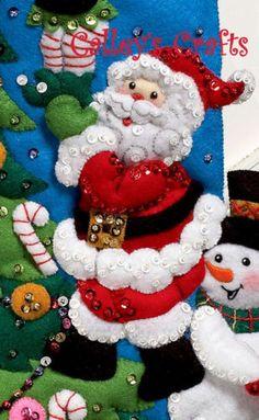 """Bucilla el toque final ~ 18 """"De Fieltro De Navidad Kit De Siembra 86278 Santa Escarchado"""