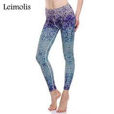 Elephant Design Leggings For Women · Leimolis 3D print blue dot winter warm  Harajuku punk adventure time workout push up plus size 78bf72c19669