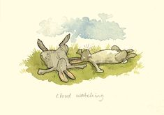 "Cloud Watching, by Anita Jeram: as published in ""Drawing and Illusion: Two Bad Mice and Anita Jeram"", a blog written by Julian Williams"