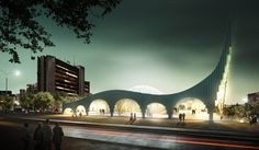 Arch2O Prishtina Central Mosque Competition Entry Taller 301 and LCC-01