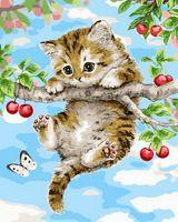 Pintura sem moldura by numbers pbn paint by número para home decor para sala de estar 4050 impertinente kitty