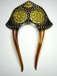 Art Deco Celluloid Hair Pin 1920