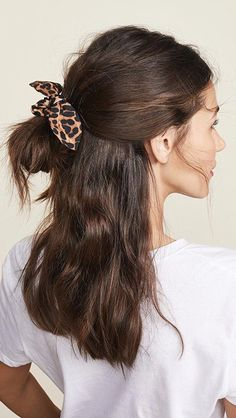 Dark Leopard Scrunchie Tie top Leopard print Hair tie Imported, India Style Wear it on your wrist or add extra style to your updo, either way this NAMJOSH hair scrunchie has got your boring hair ties beat. Trending Hairstyles, Prom Hairstyles, Braided Hairstyles, Party Hairstyle, Scrunchy Hairstyles, School Hairstyles, Black Hairstyles, Hairstyle Ideas, Hairstyle For Women