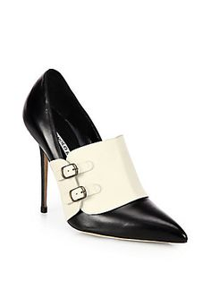 Manolo Blahnik - Encajada Leather Buckle Pumps Male inspired but all Femme Fatale Leather Buckle, Studded Leather, Women's Shoes Sandals, Shoe Boots, Mode Shoes, Manolo Blahnik Heels, Shoe Dazzle, Beautiful Shoes, Me Too Shoes