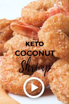 Keto Coconut Shrimp by I Breathe I'm Hungry. This super easy recipe is the most perfect combination Best Low Carb Recipes, Low Carb Dinner Recipes, Breakfast Recipes, Eat Breakfast, Breakfast Gravy, Dessert Recipes, Lunch Recipes, Breakfast Ideas, Mcdonalds Breakfast