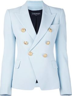 It's time to enlist in the Balmain army and you're going to need the uniform. Shop Balmain at Farfetch today for lashings of glitz and glamour. Balmain Jacket, Balmain Blazer, Couture Coats, Blazer Outfits Casual, Women Church Suits, Online Shopping For Women, Blazers For Women, Blazer Jacket, Beautiful Outfits