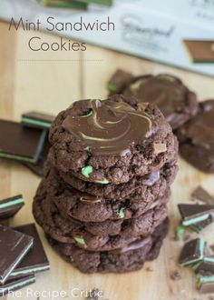 Mint Sandwich Cookies at http://therecipecritic.com  These are the BEST mint cookies and are so easy and simple and a HUGE hit!