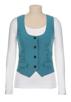 Cinched Front Vest available at #Maurices