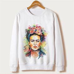 White 2017 Harajuku Design Sweatshirt Women Clothes Ariana Grande Print Hoodies Femme O-neck Character Sudaderas Mujer Pullovers Hoodie Sweatshirts, Printed Sweatshirts, Hoody, Cat Sweatshirt, Harajuku, Ariana Grande, Trendy Hoodies, White Casual, Manga