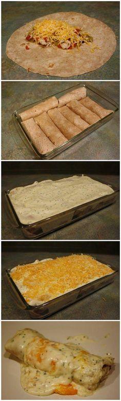 Skinny Sour Cream Enchiladas - Joybx