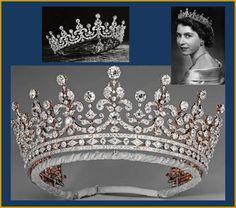 The Girls of Great Britain and Ireland Tiara foi realizada em 1893 pela Garrad & Co, como presente de casamento para a Princesa Mary of Teck, futura Rainha Mary e avó paterna da Rainha Elizabeth II. O presente foi dado pelo comitê organizado por Lady Eve Greville que tinha como principal objetivo levantar fundos para ajudar garotas inglesas e irlandesas, daí o nome da tiara. A Rainha Mary a deu como presente de casamento à sua neta, em 1947.