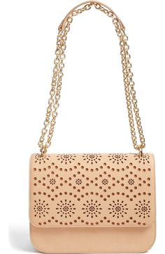 Chelsea28 Dahlia Perforated Faux Leather Shoulder Bag