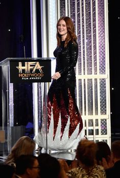 Julianne Moore attends the 2016 Hollywood Film Awards in Beverly Hills, California.