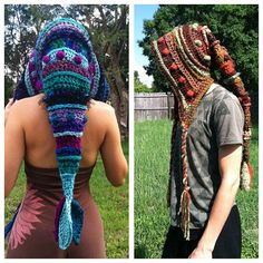 CUSTOM Freeform Long Pixie Hood Elf Leaf by EarthTricks on Etsy