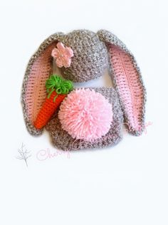 Newborn Crochet Outfit Newborn Bunny Outfit от CherryBlossomShoppe