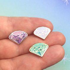 Mint Glitter Lapel Pin Single Gemstone Pin Wizard Of Oz