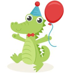 Birthday Alligator SVG scrapbook cut file cute clipart files for silhouette cricut pazzles free svgs free svg cuts cute cut files