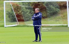 Sunderland manager Dick Advocaat during a Sunderland AFC training session at the Academy of Light on August 06, 2015 in Sunderland, England.