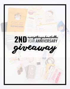 Everythingaboutbella 2nd Anniversary Giveaway