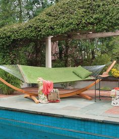 Bask in the sunlight while reclining in ultimate comfort with the Light Green Soft Weave Hammock from Hatteras Hammocks. Made to last for years to come in the outdoor elements, the Light Green Soft Weave Hammock is finely crafted with zinc-plated chains a Hatteras Hammocks, Hammocks For Sale, Best Glider, Outdoor Art, Outdoor Decor, Outdoor Rooms, Outdoor Living, Glider Rocking Chair, Metal Patio Furniture