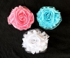 Frayed Flower Girl's Hair Clip