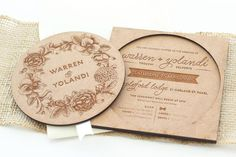 Our quirky wooden Circle of Love invitations are now available on our online store at www.shopsecretdiary.co.za #SecretDiary #WeddingInvitations