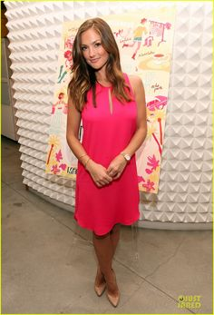 """b88de3fab9 Minka Kelly was pretty in neon pink Phillip Lim Sleeveless Tank Dress  celebrate the release of """"City of Style"""" on Tuesday (May at the Phillip Lim  boutique ..."""